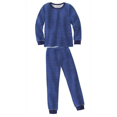 Badstof-pyjama van bio-katoen, azuur/blauw 86/92