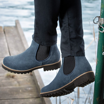 "Chelsea boots, ""Strike"", jeansblauw"