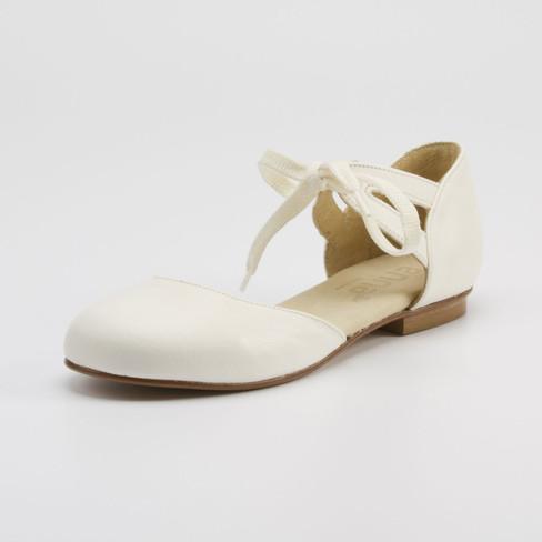 Ballerina met striksluiting, cr�me 42