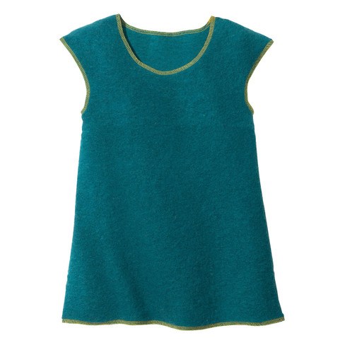 Wollen jurk, petrol 110/116