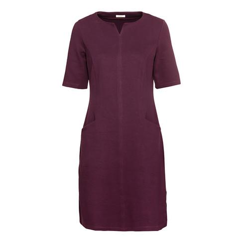 Mooie basic-jurk met tuniek-halslijn, purple 46