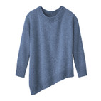 Pullover 1/1-mouw asymm., jeans