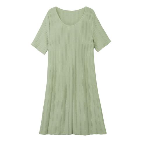 Gebreide jurk, bleekgroen 52