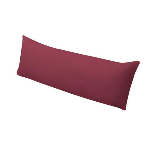 Bio-jersey kussensloop voor zijslaperkussen, vino 50 x 130 cm