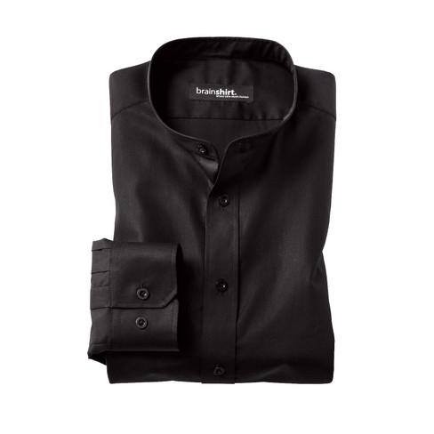 Overhemd ELVERUM uit biologisch katoen, zwart 37/38