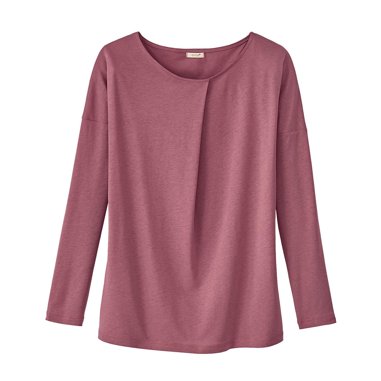 Enna Shirt met lange mouw en wijdteplooi van TENCEL™, rozenhout | Waschbär Eco-Shop from Waschbär