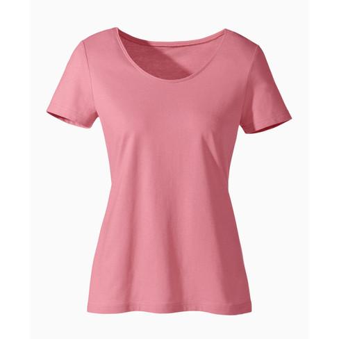 Shirt van bio-katoen, rozenhout 40
