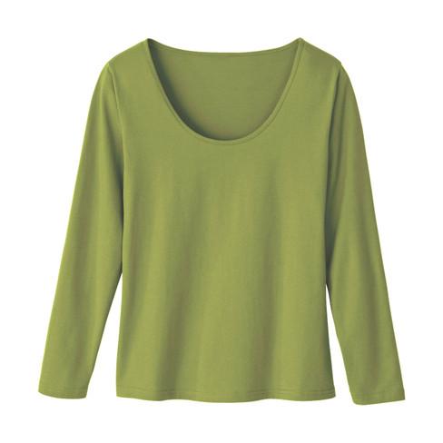 Shirt met lange mouwen, varengroen 36/38