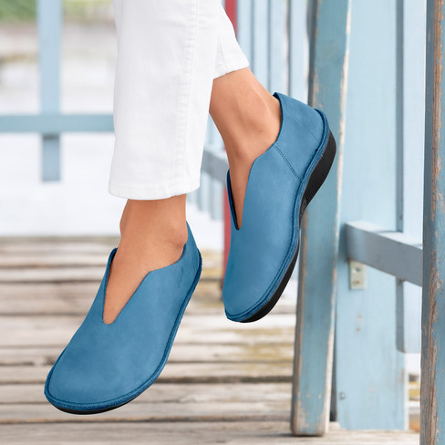 Slipper, marineblauw