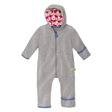 Baby-overall in fleece, grijs