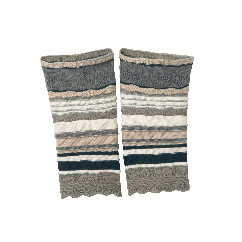 DUNQUE Jacquard-polswarmers, steen-motief | Waschbär Eco-Shop from Waschbär