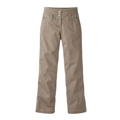 Bio-jeans wijd, zand 44