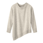 Pullover 1/1-mouw asymm., naturel