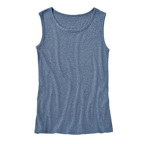T-shirt zonder mouwen, jeansblauw-gem�leerd XXL