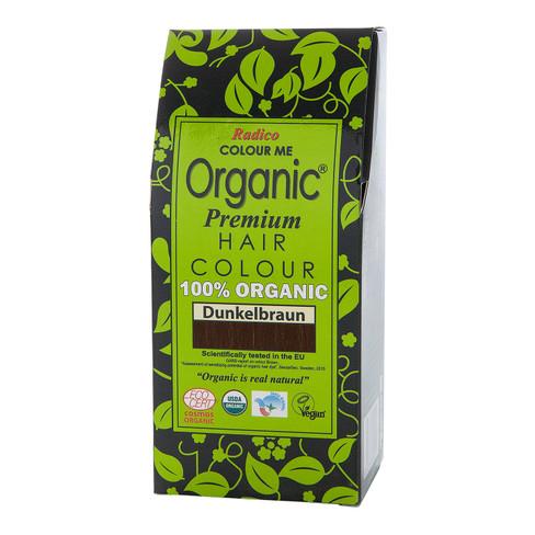 Radico Organic plantaardige haarkleuring 100 g, donkerbruin