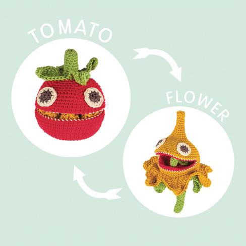 Omdraai-tomaat/bloesem