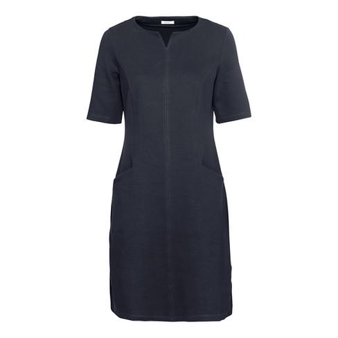 Mooie basic-jurk met tuniek-halslijn, nachtblau 42