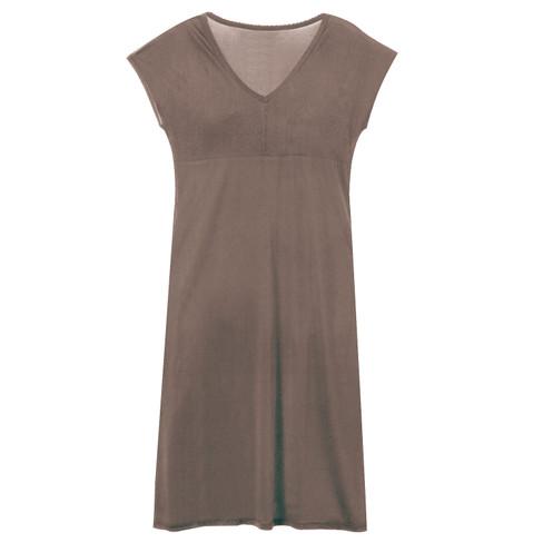 Zijden nachtjapon uit Organic Silk, taupe 40/42