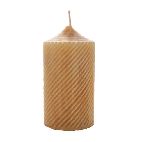 Stompkaars van 100% zuivere bijenwas H 13 x � 6,6 cm