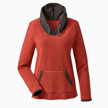 Fleece pullover, roestoranje/antraciet