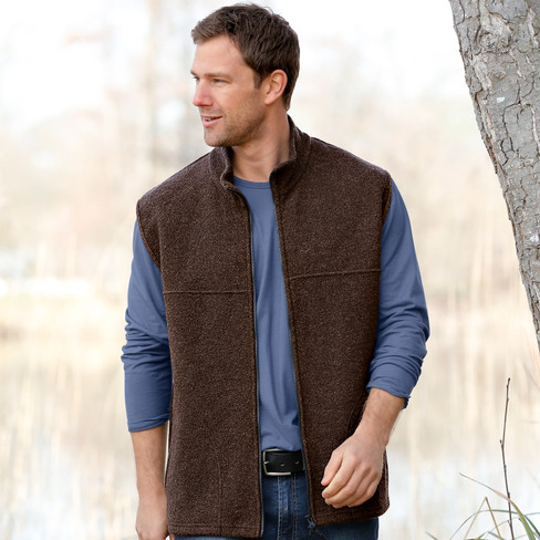 Walkstof gilet BERGA, leisteen